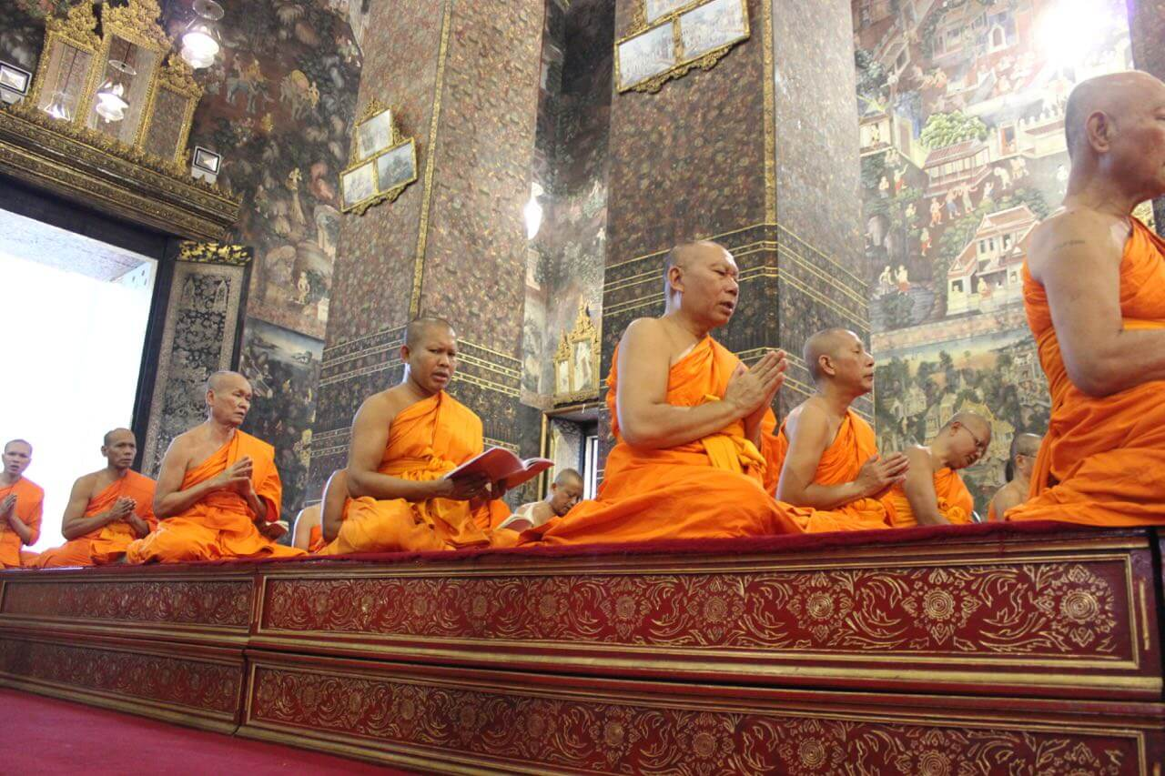 Monges Budistas em Wat Pho