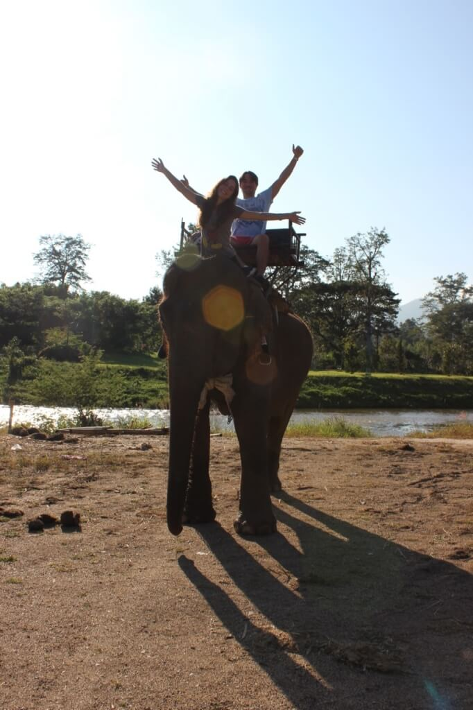 Andar de elefante ou andar à elefante?