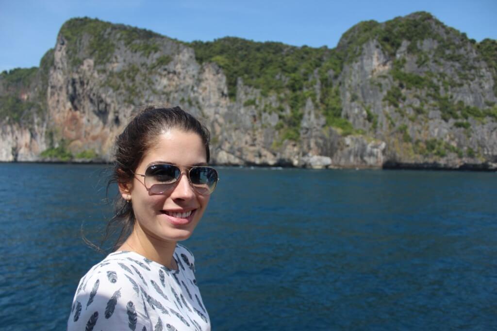 Chegando em Koh Phi phi